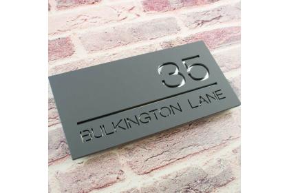 Modern Aluminium House Number Plate Address Sign